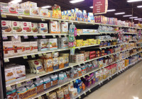 Giant Eagle features gluten free in center store
