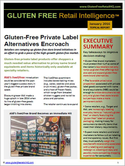 Gluten Free Private Label Alternatives