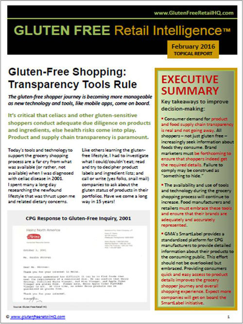 Gluten Free Shopping Transparency Tools